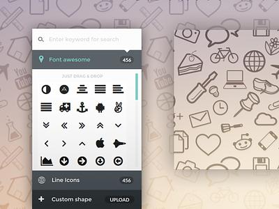 Seamless Icon Pattern Generator - PatternICO glyphs icon texture seamless icons generator ux design ui pattern