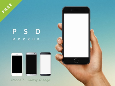iPhone mockup in hand