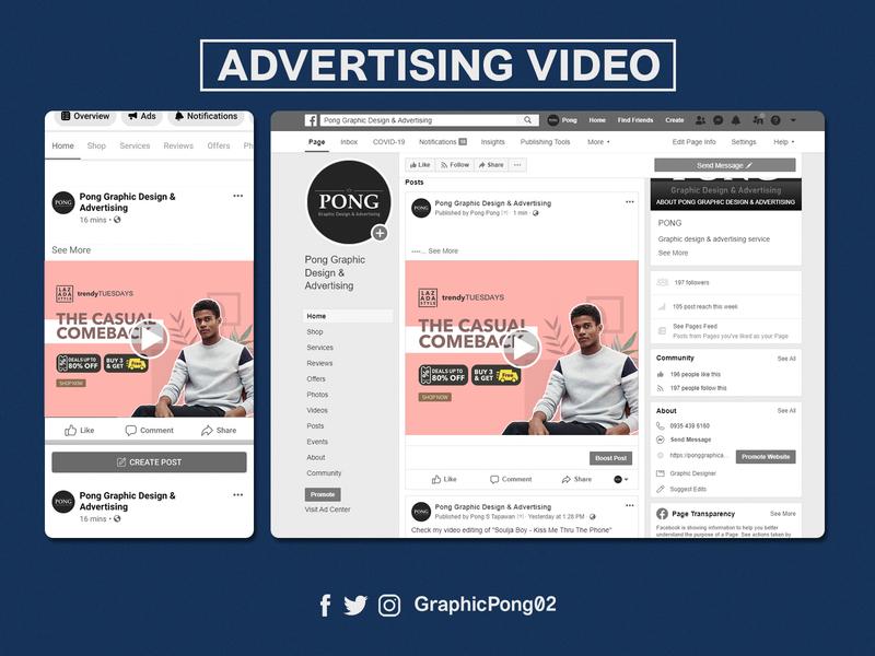 VIDEO ADVERTISING / BOOSTING digital marketing advertising video editing boosting