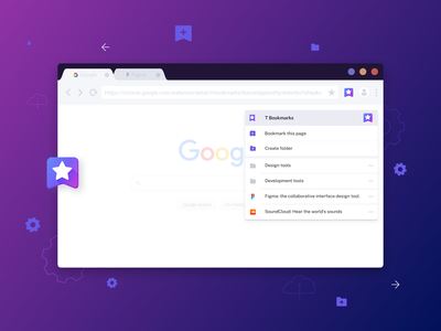 T Bookmarks – Chrome Plugin for Bookmark Management bookmarking chrome extension ux ui