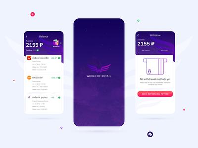 World of Retail Cashback Mobile App & Browser Extension Design cashback ux ui