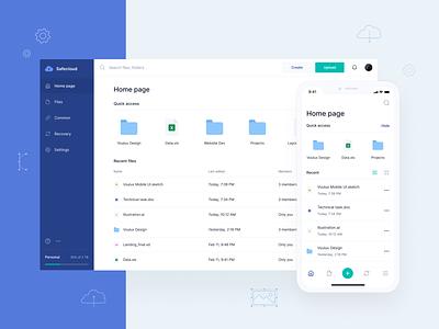 Safecloud – Cloud Storage Web & Mobile Application Design storage app animation ux ui
