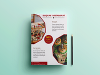 Restaurant Flyer typography banner design brochure design flyer design photoshop illustrator