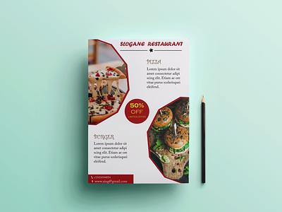 Restaurant Flyer typography banner design brochure design flyer design photoshop illustrator