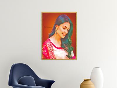 Digital painting portrait portal smudge painting digital painting illustration photoshop