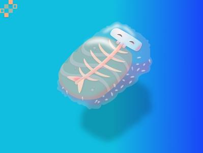 SUSHI sushi adobe xd adobe 3d art vector design illustration