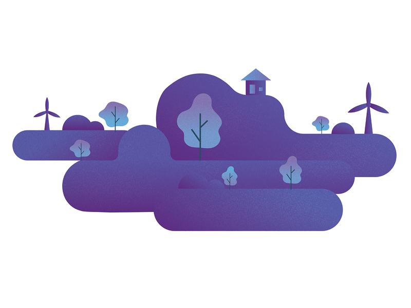 Purple Nature nature dribbblers designers digitalartwork colorful purple nature illustration illustration illustration design vectorart
