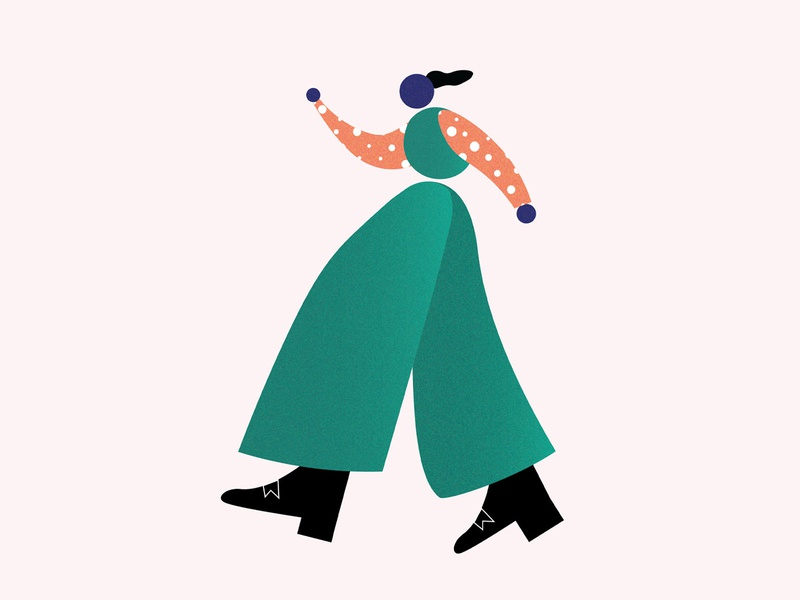 Walk it like I talk it circle shapes dribbblers colorful charcterdesign illustrator vectorart illustration digitalartwork