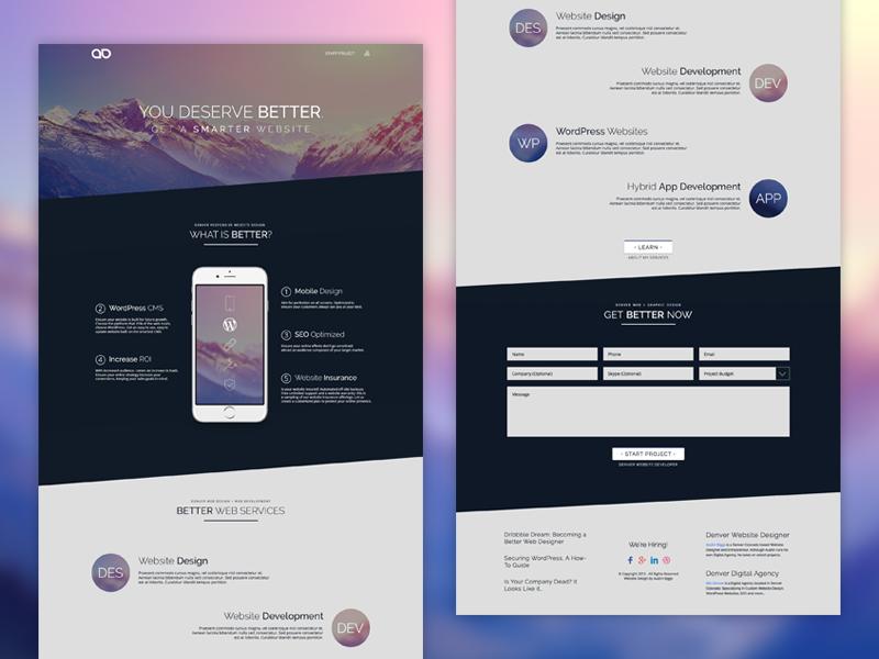 Website Homepage Design Austin Biggs By Austin Biggs On