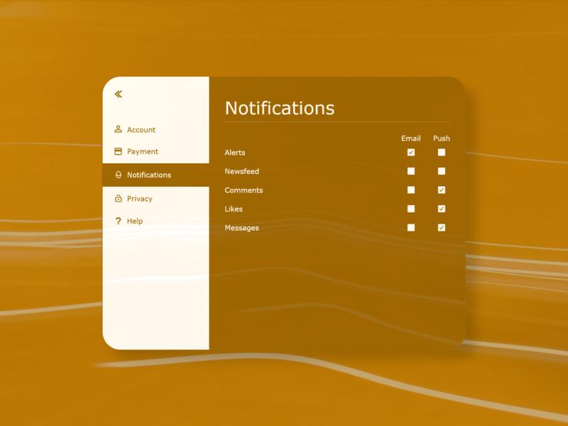 007 - Settings notification center ipad push notification notifications settings ux ui dailyui007 dailyui