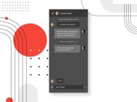 013 - Direct Messaging dark mode app dailyui 013 messaging app messaging message ux ui dailyui