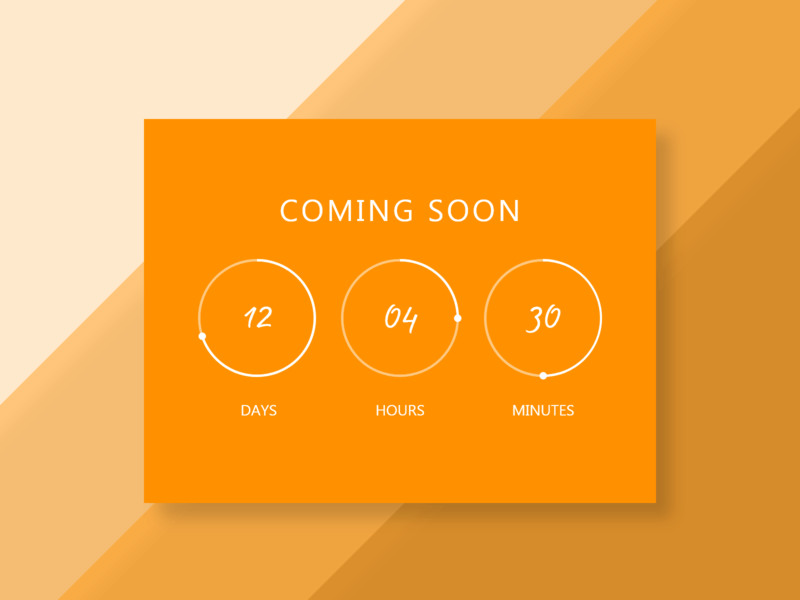 014 - Countdown Timer minutes hours days soon countdowntimer countdown timer ux ui dailyui
