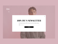 016 - Pop-Up/Overlay form signup newsletter pop up clothing fashion ecommerce ux ui dailyui