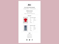 017 - Email Receipt receipt email receipt email design email clothing fashion ecommerce ux ui dailyui