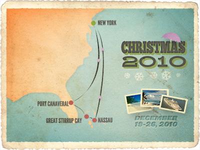 Christmas 2010 vintage retro texture grunge travel postcard