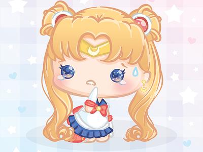 Sailormoon Redraw! chibi sailormoonredraw anime kawaii sailormoon pastel magical girl illustration cute