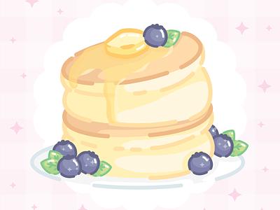 Fluffy Pancake soft aesthetic food pancake cute art vector