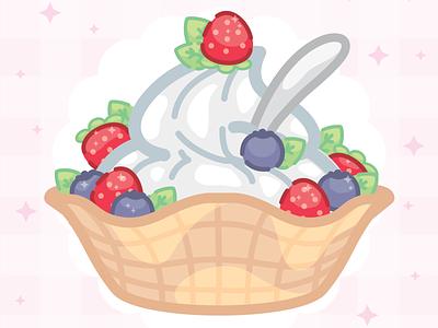 Frozen Yogurt ✨ ipadart fruits desserts frozen yogurt vector art
