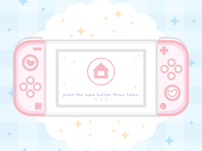 Nintendo Switch pink 🌸 vector switch gaming concept