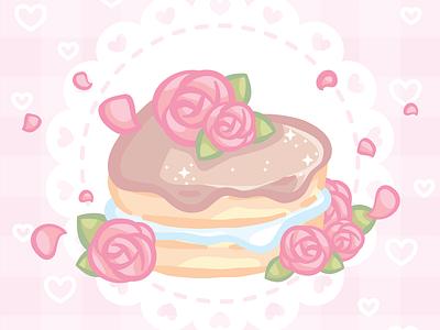 Heart Cake illustration food cake vanilla chocolate heart