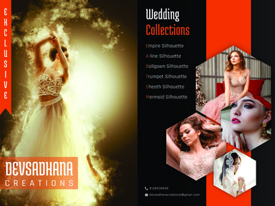 Dev Sadhana Creations Brochure design typography branding vector