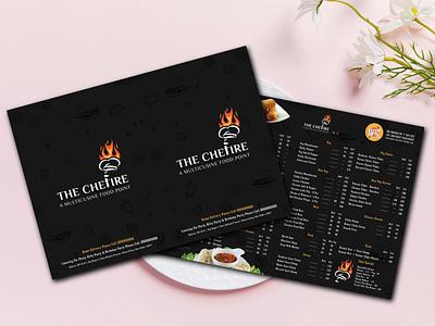 Menucard Design - The Chefire hotel restaurant brand brand design menu menu card design menu card illustration design vector typography creative graphic design branding marketing
