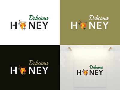 Logo Design - Delicious Honey creative design logo design illustration design vector typography creative graphic design branding ux ui logo marketing