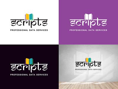 Logo Design - Scripts Professional Data Services logo design logo illustration design vector typography creative graphic design branding marketing