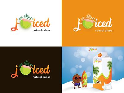 Logo Design - Juiced - Natural Drinks creative designer designer logo design logo illustration design vector typography creative graphic design branding marketing