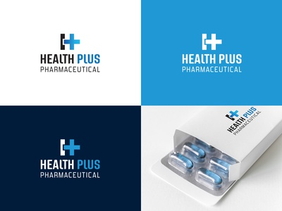 Logo Design - Health Plus Pharmaceutical brand marketing designer logo design logo creative graphic design design vector typography illustration branding