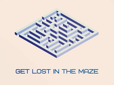 Maze minimal vector logo illustrator illustration flat design branding art