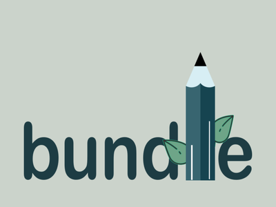 Bundlle logo art flat icon vector logo illustrator illustration typography design branding