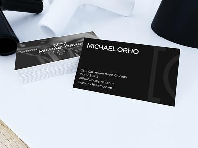 Michael Orho business card business card design mockup line photography photographer business illustration art vector illustrator typography logo flat design branding business card businesscard