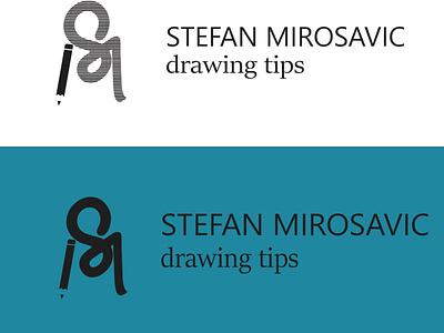 Logo for a Artist pencilart brand inspiration linework lineart line logodesign logotype logos business minimal typography illustration art vector illustrator logo flat design branding