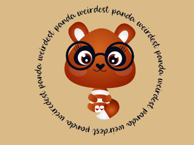 Panda logo character illustrations panda logo