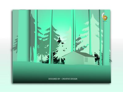 Forest illustration dribbble illustration creative