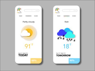 UI DESIGN graphicdesign illustraion weather app ui design uiuxdesign ui creative dribbble