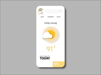 UI DESIGN branding weather app illustraion uidesing follow creative ui dribbble
