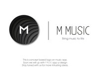Logo design follow invite uiux music logo music app logo design logo illustration graphicdesign ui dribbble