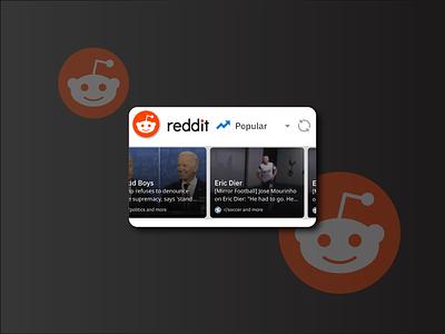 Reddit Widget | Weekly Warm-Up dribbbleweeklywarmup app widget ux vector adobe design