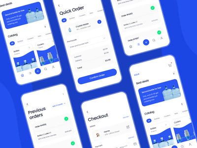 Aqua tabbar deal story adress payment checkout card ordering category design mobile app ui ux