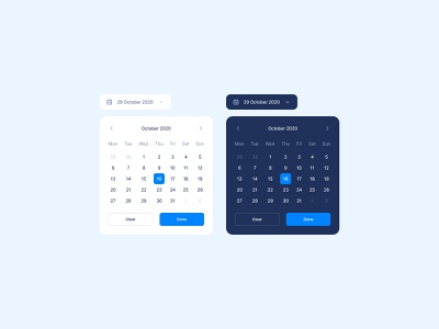 UI Components 03: Date Picker design system dashboard ux ui timeline time frame plan period input date range pixel-perfect modern figma date date picker component calendar