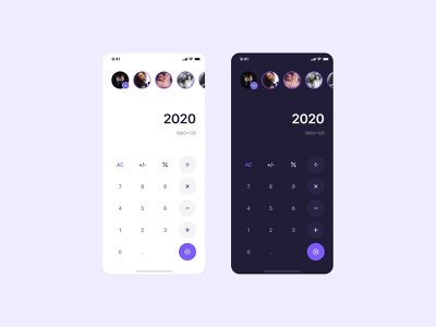Calculator Stories! clean creative ios app mobile instagram twitter stories story feature calculator concept ux ui pixel-perfect figma