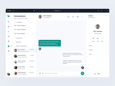 Dashboard: Conversations eden pixel-perfect figma chat app product design clean dashboard conversation messenger messaging message chat dashboard ui clean design