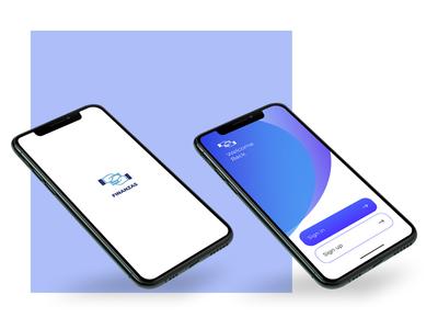 Finance app design colour typography illustration vector ui