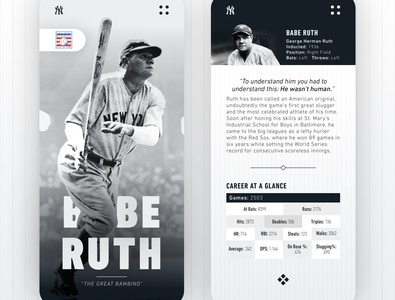Babe Ruth Player Profile - UI