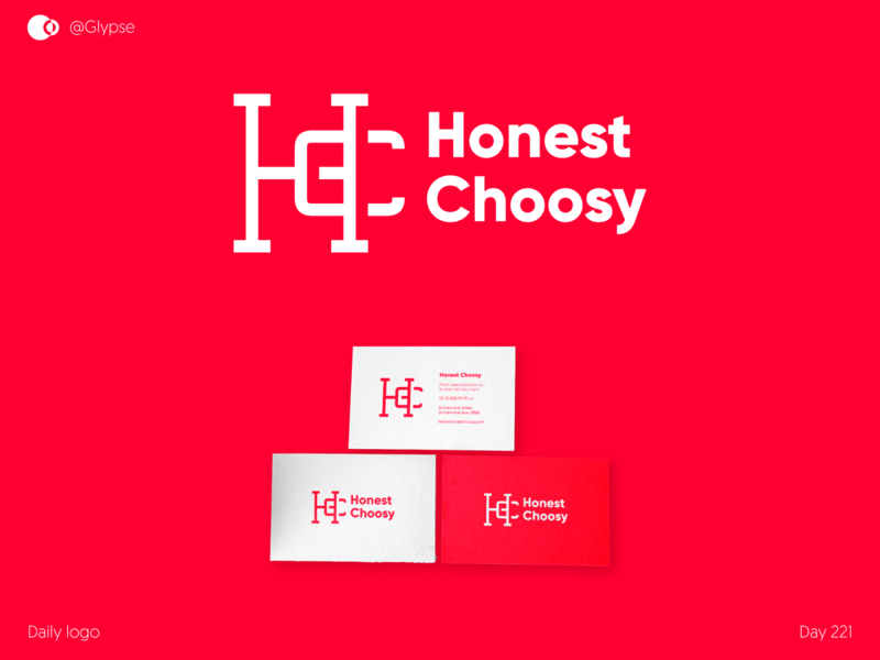 Honest Choosy monogram for sale logo for sale branding for sale unique branding make it pop red flash monogram letter mark monogram design monogram logo monograms monogram hc typo monogram4sale logo4sale hc logo for sale hc monogram for sale hc logo hc monogram hc