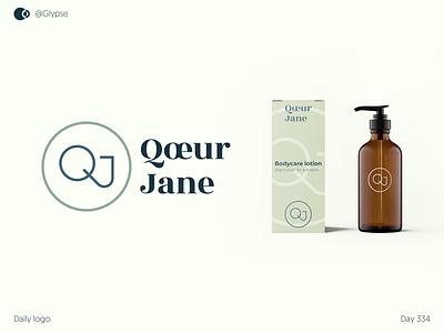 Qœur Jane brand design logoforsale brand identity dailylogochallenge icon geometric logo logo design branding logodesign logo