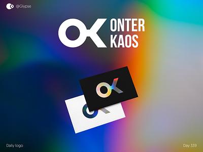 Onter Kaos design logo for sale brand design brand identity dailylogochallenge icon geometric logo logo design branding logodesign logo