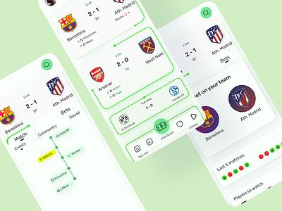 All Football - redesign barcelona barca green mobileapp football app redesign allfootball football figma dribbble uiux ui design ui